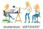 business woman character.... | Shutterstock . vector #1057231937