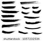 grunge dry brush strokes | Shutterstock .eps vector #1057232534