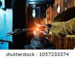 forging press. manufacturer of... | Shutterstock . vector #1057233374