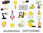bitcoin  bitcoin mining  icons... | Shutterstock .eps vector #1057233485
