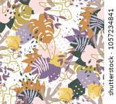 abstract floral elements paper... | Shutterstock . vector #1057234841