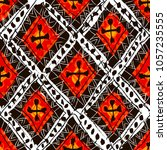 abstract ethnic elements paper... | Shutterstock . vector #1057235555