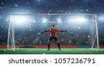 soccer game moment  on... | Shutterstock . vector #1057236791