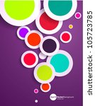 abstract vector design with... | Shutterstock .eps vector #105723785