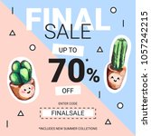 cute sale banners with... | Shutterstock .eps vector #1057242215