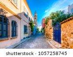 bozcaada streets view. bozcaada ... | Shutterstock . vector #1057258745