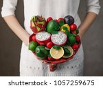 edible arrangements  edible... | Shutterstock . vector #1057259675