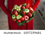 edible arrangements  edible... | Shutterstock . vector #1057259681