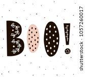 boo  lettering in scandinavian... | Shutterstock .eps vector #1057260017