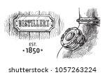 alembic still for making... | Shutterstock .eps vector #1057263224