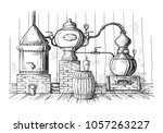 alembic still for making... | Shutterstock .eps vector #1057263227