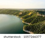 aerial trees and cliff rock... | Shutterstock . vector #1057266377