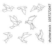 set of black line geometric...   Shutterstock .eps vector #1057272047