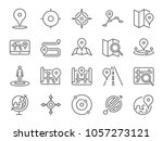 map icon set. included the... | Shutterstock .eps vector #1057273121