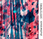 abstract seamless texture. blue ... | Shutterstock .eps vector #1057278581
