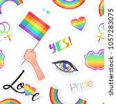 lgbt logo symbols stickers...   Shutterstock .eps vector #1057283075