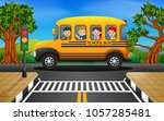 vector illustration of children ... | Shutterstock .eps vector #1057285481