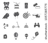 toys icon set vector  | Shutterstock .eps vector #1057285775