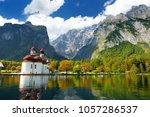 st. bartholomew church on...   Shutterstock . vector #1057286537