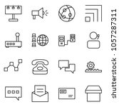 flat vector icon set  ... | Shutterstock .eps vector #1057287311