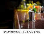 cocktail on the bar in night... | Shutterstock . vector #1057291781