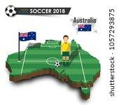 australia national soccer team .... | Shutterstock .eps vector #1057293875