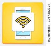 smartphone 3d isometry flat... | Shutterstock .eps vector #1057302329