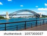 harbour bridge in darling... | Shutterstock . vector #1057303037