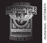 vintage motorcycle typography ...   Shutterstock .eps vector #1057308374