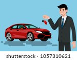 a happy businessman  vehicle... | Shutterstock .eps vector #1057310621