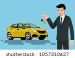 a happy businessman  vehicle... | Shutterstock .eps vector #1057310627