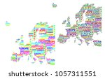 sketch europe letter text... | Shutterstock .eps vector #1057311551