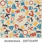 vector summer pattern  ... | Shutterstock .eps vector #105731459
