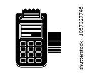 credit card machine icon | Shutterstock .eps vector #1057327745