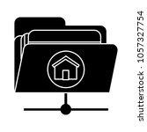 home sharing folder icon   Shutterstock .eps vector #1057327754