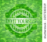 do it yourself realistic green... | Shutterstock .eps vector #1057330319