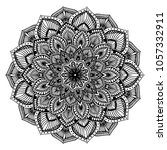 mandalas for coloring book.... | Shutterstock .eps vector #1057332911