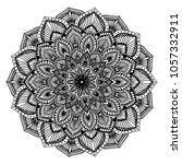 mandalas for coloring book.... | Shutterstock .eps vector #1057332911
