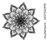 mandalas for coloring book.... | Shutterstock .eps vector #1057332959