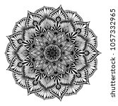 mandalas for coloring book.... | Shutterstock .eps vector #1057332965