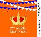 holland kings day  | Shutterstock .eps vector #1057334555