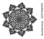 mandalas for coloring book.... | Shutterstock .eps vector #1057336595