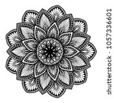 mandalas for coloring book.... | Shutterstock .eps vector #1057336601