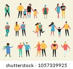vector illustration in flat... | Shutterstock .eps vector #1057339925