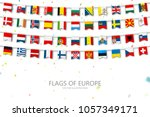 colorful flags of different... | Shutterstock .eps vector #1057349171