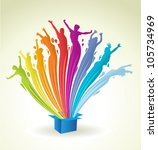 colorful paint in shape of... | Shutterstock .eps vector #105734969