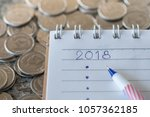 2018 new year planning concept. ... | Shutterstock . vector #1057362185
