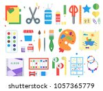 themed kids creativity creation ... | Shutterstock .eps vector #1057365779