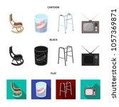 denture  rocking chair  walker  ... | Shutterstock .eps vector #1057369871