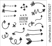 arrow vector collection | Shutterstock .eps vector #1057370027